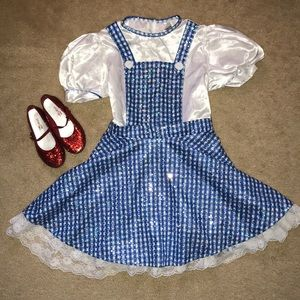 Wizard of oz Dorothy costume & Ruby Red Slippers